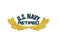 US NAVY with Oak leaves Retired Embroidered Polo Shirt Embroidered gift