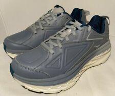 Hoka One One Bondi 6 LTR Running shoe/ Grey/leather Women's US Size 7 Wide~ NEW