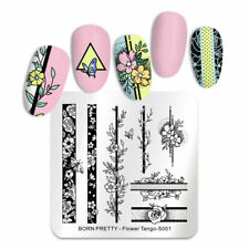 Nail Art Stamping Plate Image Decoration Fern Wild Flowers Floral Lace Leaf BPS1