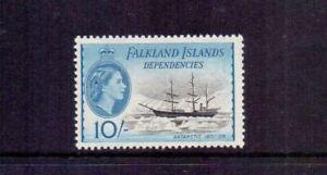 FALKLAND IS. 1954 10/- SHIPS SG.G39 MNH CAT £50