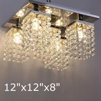 Elegant Modern Ceiling Light Crystal Chandelier Pendant Lighting Fixture 5Lamp