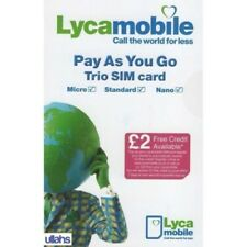 OFFER 2x Lyca Mobile 3-in-1 Pay As You Go Sim Card Standard Micro Nano 2G 3G 4G