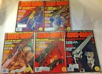 GUNS & AMMO MAGAZINE 1978 Lot of 5, Firearms Shooting Hunting Ads Vintage