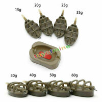 Inline Metodo Carp Fishing Feeder 4 alimentatori 15~60g Set di stampi