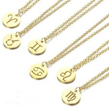 Horoscope Zodiac Sign Pendant Necklace Kids Gifts Constellations Women's Jewelry