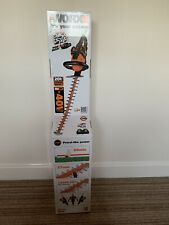 WORX WG284E 36V (40V MAX) Dual Battery Cordless 60cm Hedge Trimmer. Brand New.