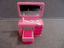 Barbie Vintage Arco Pink Vanity Desk Stool  Furniture Lot J7