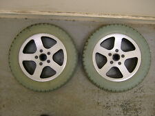 LOMAX ECO POWER POWERCHAIR REAR WHEELS WITH P/P TYRES. E-60-203.