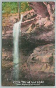 Eureka Springs Arkansas~Water Falls At Camp Revilo~Vintage Postcard