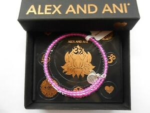 Alex and Ani Color Palette Bubblegum Wrap Bangle Bracelet Rafaelian Silver NWTBC