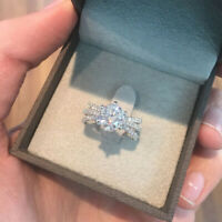 Solitaire 2.60 Karat Diamant Verlobungsring Rund 14K Massiv Weißgold Größe n O M