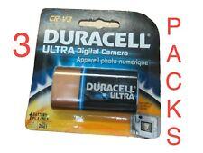 3 X Duracell Ultra Digital Camera CR V3 3V Lithium Battery New In Pack 2021 Exp.