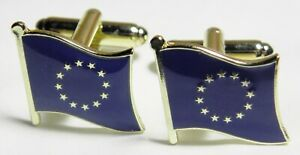Europe EU Flag Cuff Links Europa European Euro Union Cufflinks