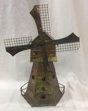Vintage Metal Copper Music Box Windmill Hong Kong