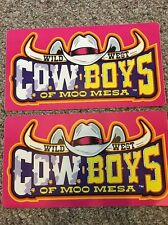 "Wild West Cowboys Of Moo Mesa Side Art Stickers Decal Graphic Vinyl 16.5"" X 9"""