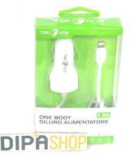 Alimentatore One Body TeKone LXC10-C Da Auto Carica 1.5A Iphone 5 5s 6 6s 5c hsb
