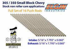 """Elgin PR-34B Set of 16 305 350 V8 SBC Engine Push Rods - 5/16"""" x 7.794"""""""