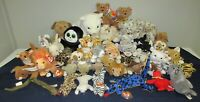 LOT OF APPROXIMATELY 43 TY BEANIE BABIES / VARIOUS SIZED ANIMALS ETC....