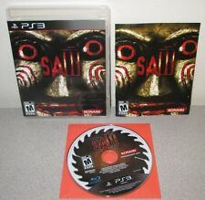 SAW PlayStation 3 PS3 Complete w/Manual Horror Thriller Tobin Bell Jigsaw