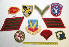 lot de 10  Patchs originaux US Army  ( 133 )