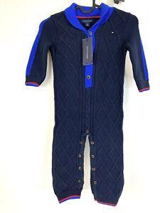 Tommy Hilfiger Toddler Infant Knitted Jumpsuit Romper New 18m