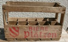 rare ancienne caisse  bois à bouteilles de bière platzen 1969