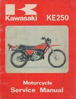 1976-1979 KAWASAKI MOTORCYCLE KE 250 SERVICE MANUAL P/N 99924-1014-01 (391)