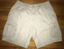Mens Columbia Faded Olive Green Shorts Sz L Cargo Pocket Utility Outdoors AM4394