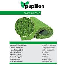 Erba Finta Prato Sintetico 2x10 Mt Cricket altezza 30 mm Verde Bitono