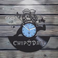Chip & Dale Vinyl Wall Clock Cartoon Best Gift Unique Kid Room Design Home Decor