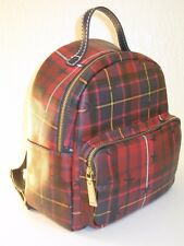 Tommy Hilfiger Red Multi Color Plaid Julia Backpack Bag $118