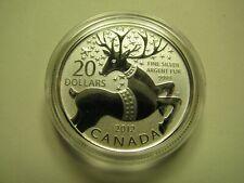 2012 Specimen $20 for $20 #6-Magical Reindeer Canada .9999 silver COIN ONLY twen