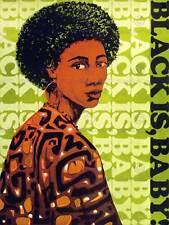 PROPAGANDA POLITICAL AFRICAN AMERICAN CIVIL RIGHTS WOMAN USA ART PRINT BB9173