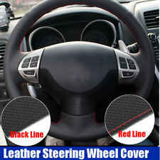 Sewing Leather Steering Wheel Cover For Mitsubishi Lancer EX Outlander Colt ASX