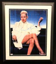 Sharon Stone Signed Framed 16x20 Photo Autographed Signature PSA DNA COA