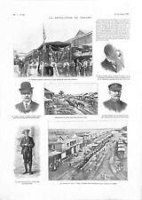 Révolution Indépendance du Panama guerre des Mille Jours GRAVURE 1903