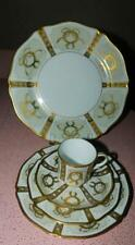 Faberge Gold Enamel And Jeweled 5 Pc Place Setting Limoges France
