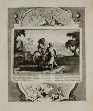 1728 Kupfer Biblia Flucht nach Ägypten Weihnachten Christmas Flight into Egypt