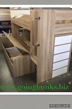 Double single bunk with gas lift Staircase stoarge drawers NEW DESIGN Kids