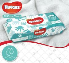 HUGGIES All Over Clean Baby Wipes with Resealable Tape Top