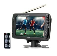 "Axess TV1703-7 7"" Rechargeable LCD ATSC/NTSC TV with USB/SD-In/Remote"