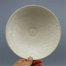 A Vivid Song Dynasty Ding kiln Porcelain Bowl With Dragon Phoenix