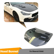 Carbon Fiber Front Hood Bonnet Cover Body Kit For Maserati Ghibli 2014-2020