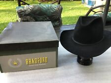 Vintage New Resistol Bradford 60s Pure Fur Blend Black Cowboy 7-3/8 Orig Box