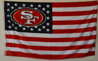 San Francisco 49ers USA Stars and stripes  Flag Deluxe Banner 3'x5'Feet