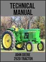 John Deere 2520 Tractor Technical Manual TM1004 On USB Drive