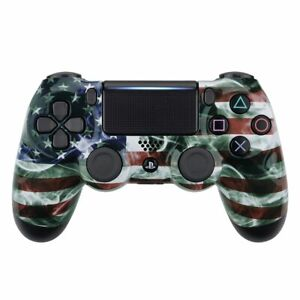Smoking American Flag Custom UN-MODDED PRO Controller CUH-ZCT2 for PS4 OEM