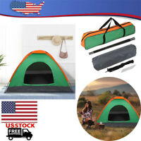 2 Person 4 Season  Waterproof Outdoor Camping Dome Tent Green and Orange