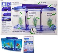 0.7-Gallon @ Color Betta Fish Tank With Divider Triple Beta Deluxe filtration Sy