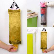 Grocery Bag Round Holder Wall Mount Storage Dispenser Kitchen Organizer Plastic